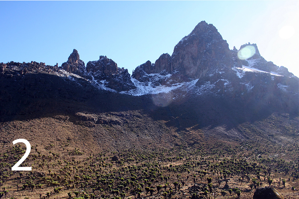 Mount Kenya Second highest mountain in Africa