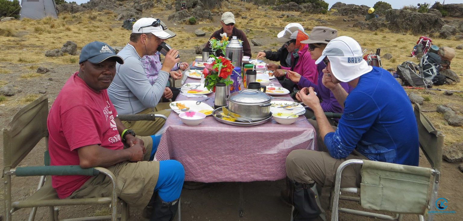 food on kilimanjaro climb